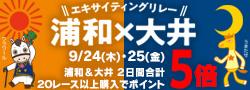 浦和×大井エキサイティングリレーキャンペーン(2020)