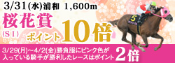 桜花賞キャンペーン